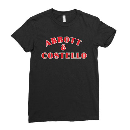 Abbott And Costello Ladies Fitted T-shirt Designed By Just4you