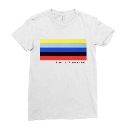Biarritz France 1990 Ladies Fitted T-shirt Designed By Just4you