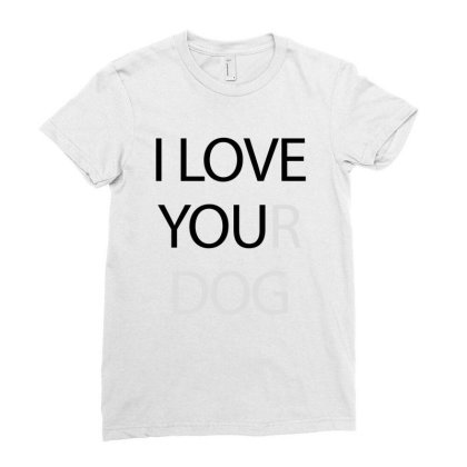 I Love You - Black Ladies Fitted T-shirt Designed By Waroenk Design