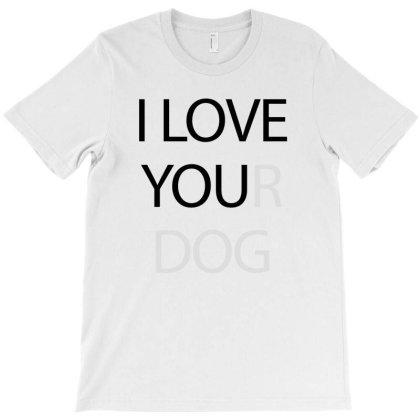 I Love You - Black T-shirt Designed By Waroenk Design