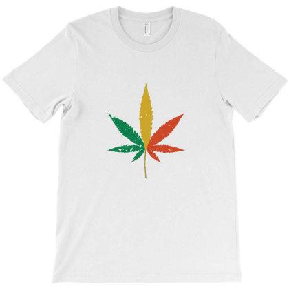 Colorful Marijuana T-shirt Designed By Sr88