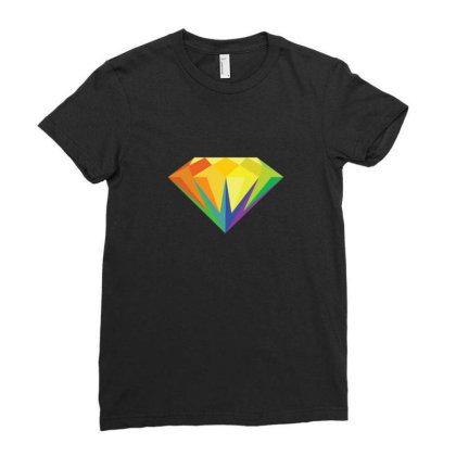 Diamond Color Palette Ladies Fitted T-shirt Designed By Sr88