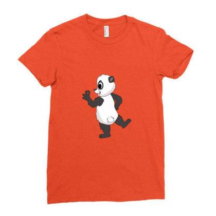 Funny Arrogant Panda Ladies Fitted T-shirt Designed By Sr88