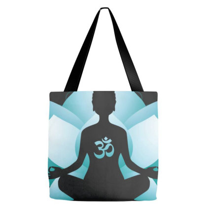 Blue Lotus Blossom Blue Toned Tote Bags Designed By Honeysuckle