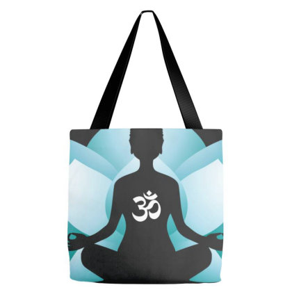Blue Lotus Blossom Tote Bags Designed By Honeysuckle