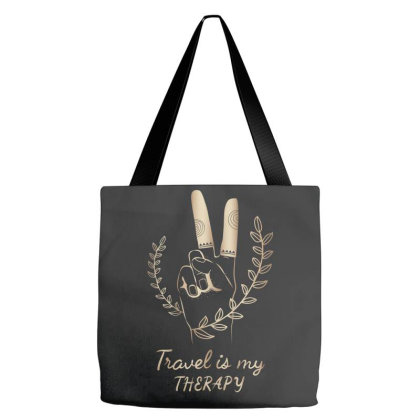 Travel Is My Therapy Tote Bags Designed By Estore