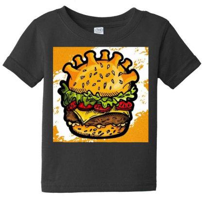 Burger Baby Tee Designed By Vj4170