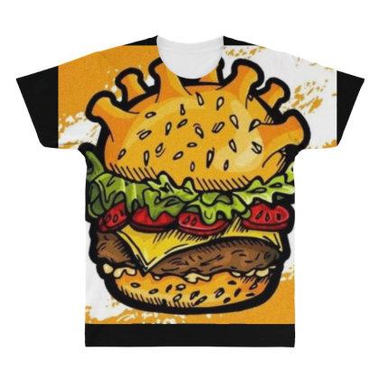 Burger All Over Men's T-shirt Designed By Vj4170