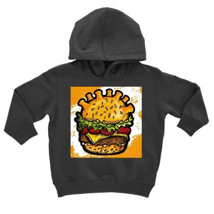Burger Toddler Hoodie Designed By Vj4170
