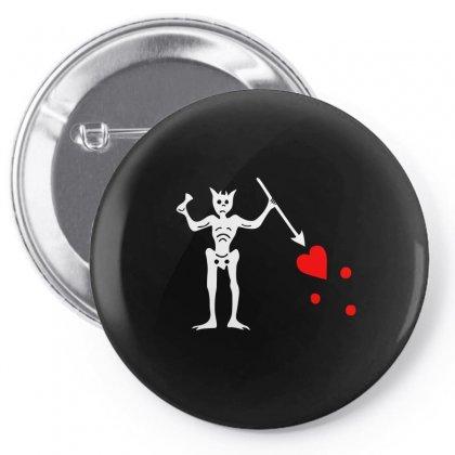 Blackbeard's Flag Pirate Edward Teach Pin-back Button Designed By Mdk Art