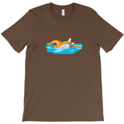 Dog Swimmer T-shirt Designed By Sr88