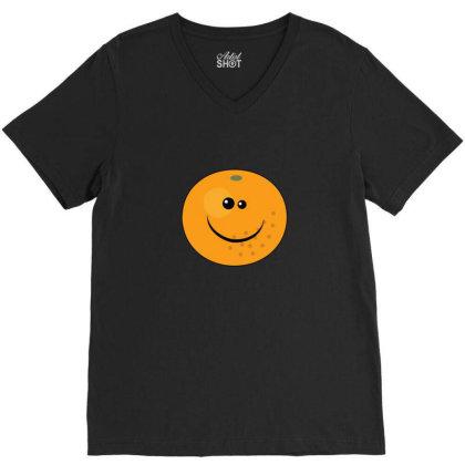 Orange Face V-neck Tee Designed By Sr88