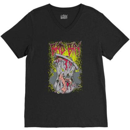 Zombie, Bad Bin V-neck Tee Designed By Estore