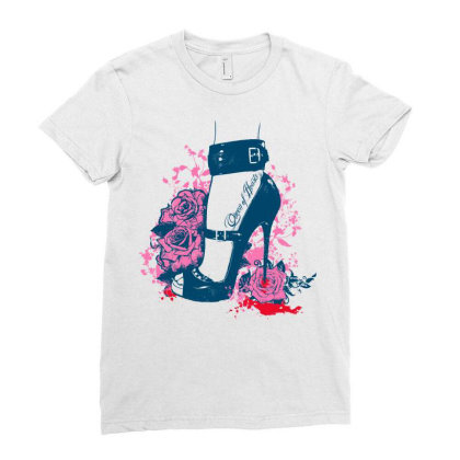Queen Hearts Ladies Fitted T-shirt Designed By Estore
