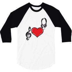 Love music 3/4 Sleeve Shirt | Artistshot