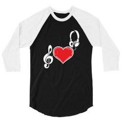 Love music 3/4 Sleeve Shirt   Artistshot