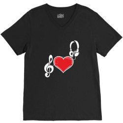 Love music V-Neck Tee   Artistshot