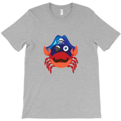 Crab Pirate T-shirt Designed By Sr88