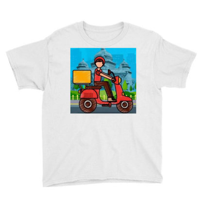Home Delivery Youth Tee Designed By Vj4170