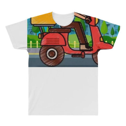 Home Delivery All Over Men's T-shirt Designed By Vj4170