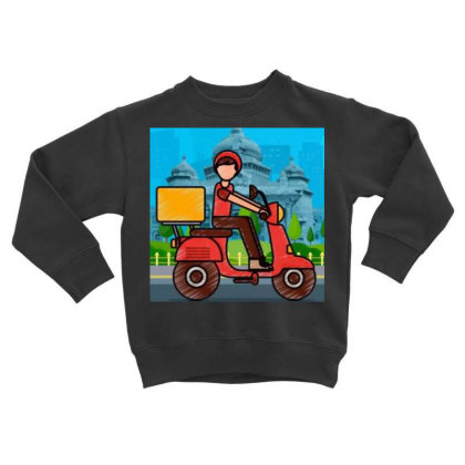 Home Delivery Toddler Sweatshirt Designed By Vj4170