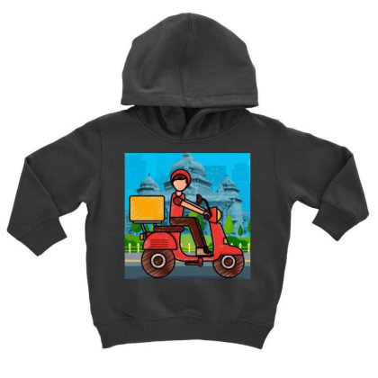 Home Delivery Toddler Hoodie Designed By Vj4170