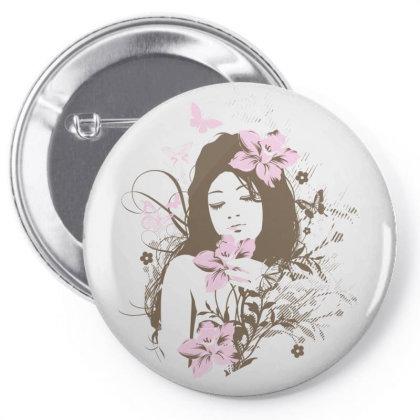 Girl Pin-back Button Designed By Estore