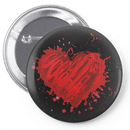 Heart Pin-back Button Designed By Estore
