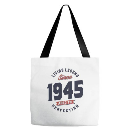 1945living Legend Since 1945 Birthday Gift Tote Bags Designed By Cidolopez