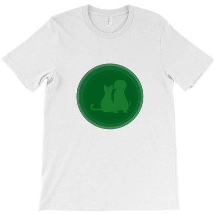 Dogandcat T-shirt Designed By Uniquetouch