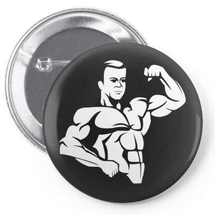 Bodybuilding Pin-back Button Designed By Estore