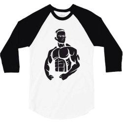 Bodybuilding 3/4 Sleeve Shirt   Artistshot