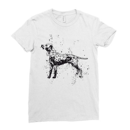 Dog Ladies Fitted T-shirt Designed By Estore
