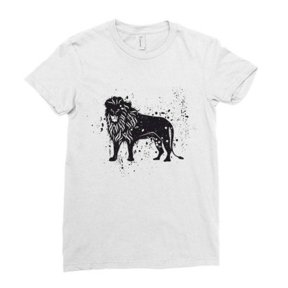 Lion Ladies Fitted T-shirt Designed By Estore