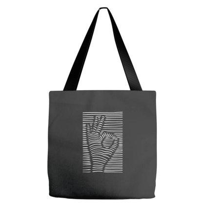 3d Effect Ok Hand Sign Tote Bags Designed By Dirjaart
