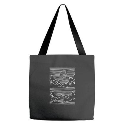 3d Mountain Stroke Tote Bags Designed By Dirjaart