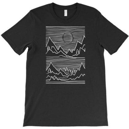 3d Mountain Stroke T-shirt Designed By Dirjaart