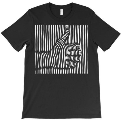 3d Thumbs Up T-shirt Designed By Dirjaart