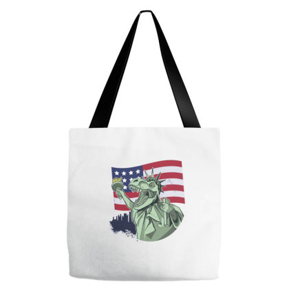 4th Of July Independence T Rex Tote Bags Designed By Dirjaart