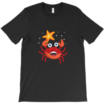 Crab Holding A Starfish T-shirt Designed By Sr88