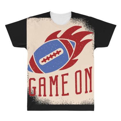 American Football Ball All Over Men's T-shirt Designed By Dirjaart