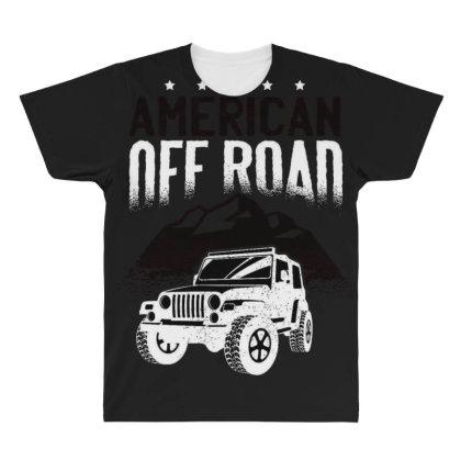 American Off Road All Over Men's T-shirt Designed By Dirjaart