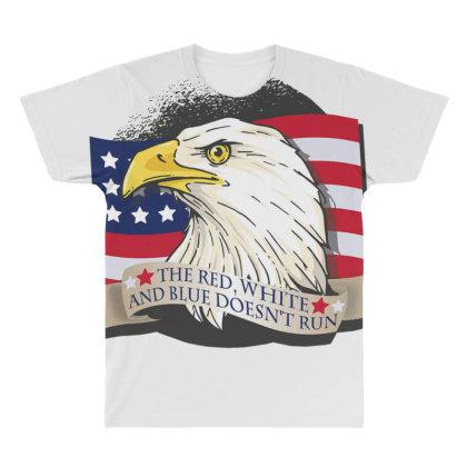 American Patriot Eagle All Over Men's T-shirt Designed By Dirjaart