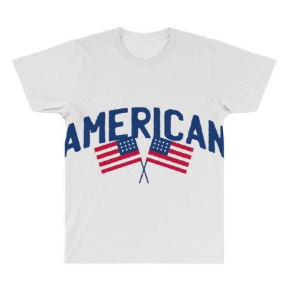 American All Over Men's T-shirt Designed By Dirjaart