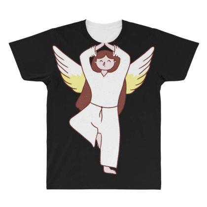 Angel Yoga All Over Men's T-shirt Designed By Dirjaart