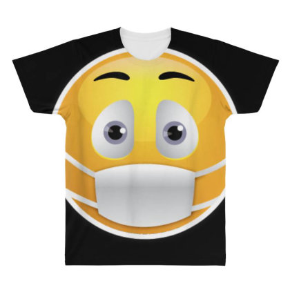 Face Medical Mask Emojis Surgical Health St. Patrick's Day All Over Men's T-shirt Designed By Amber Petty