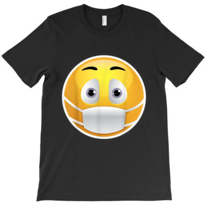 Face Medical Mask Emojis Surgical Health St. Patrick's Day T-shirt Designed By Amber Petty