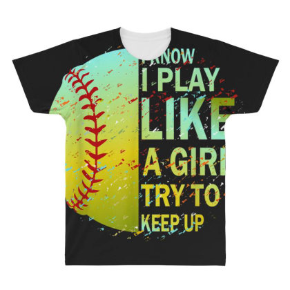 Softball All Over Men's T-shirt Designed By Amber Petty