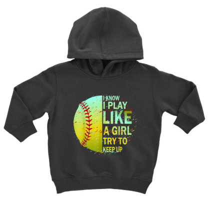 Softball Toddler Hoodie Designed By Amber Petty
