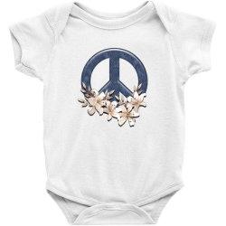 peace floral Baby Bodysuit | Artistshot